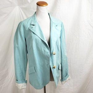 Sundance Catalog Size 12 Linen Blend Blazer Jacket